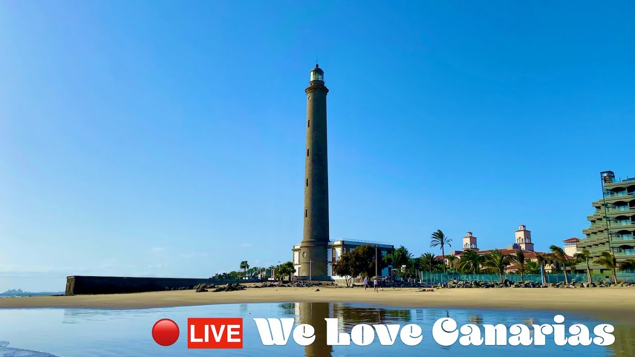 Gran Canaria Live 🔴 … Today from Maspalomas … Come with me to the Sea